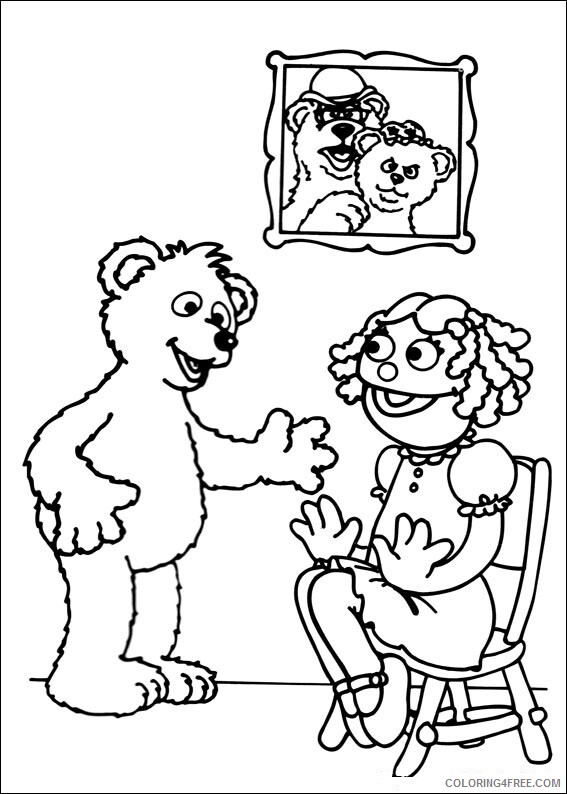 Sesame Street Coloring Pages TV Film Free Printable 2020 07433 Coloring4free
