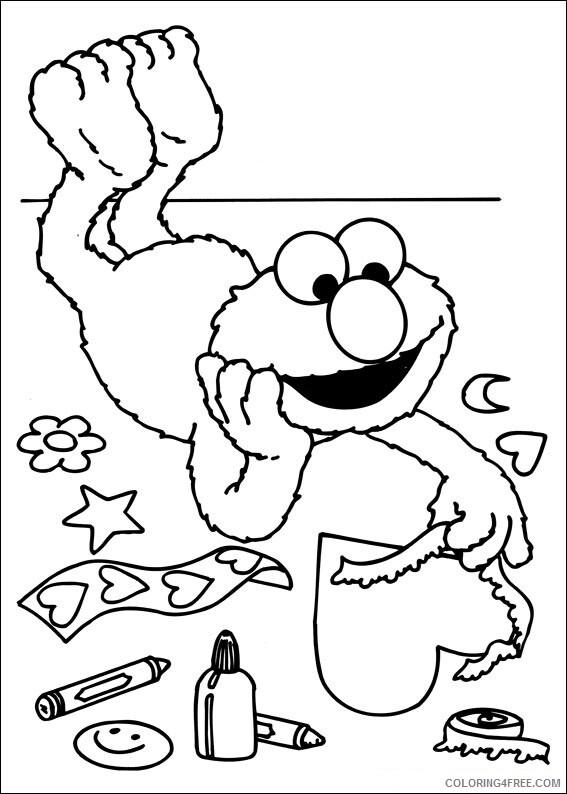 Sesame Street Coloring Pages TV Film Free Sesame Street Printable 2020 07352 Coloring4free