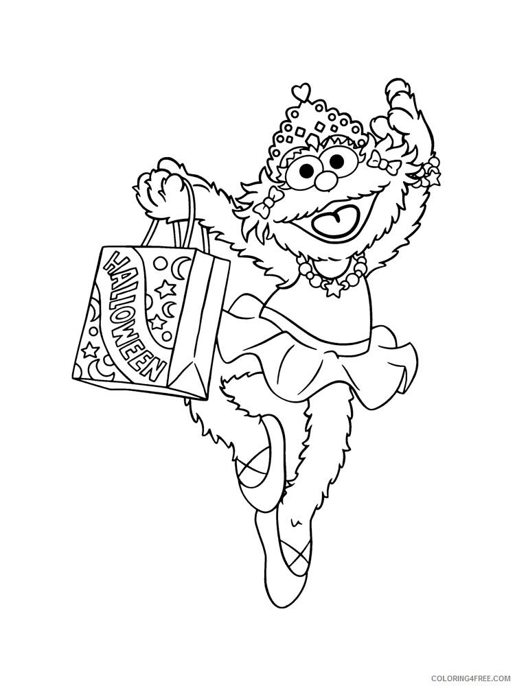 Sesame Street Coloring Pages TV Film Sesame Street 23 Printable 2020 07417 Coloring4free