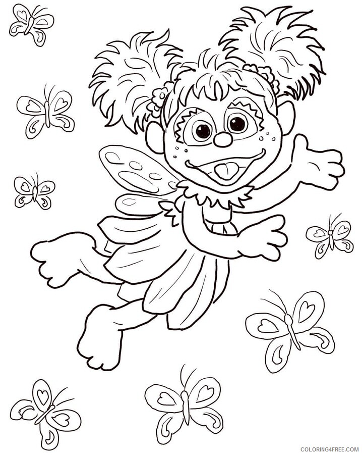 Sesame Street Coloring Pages TV Film free elmo party favor 2020 07319 Coloring4free