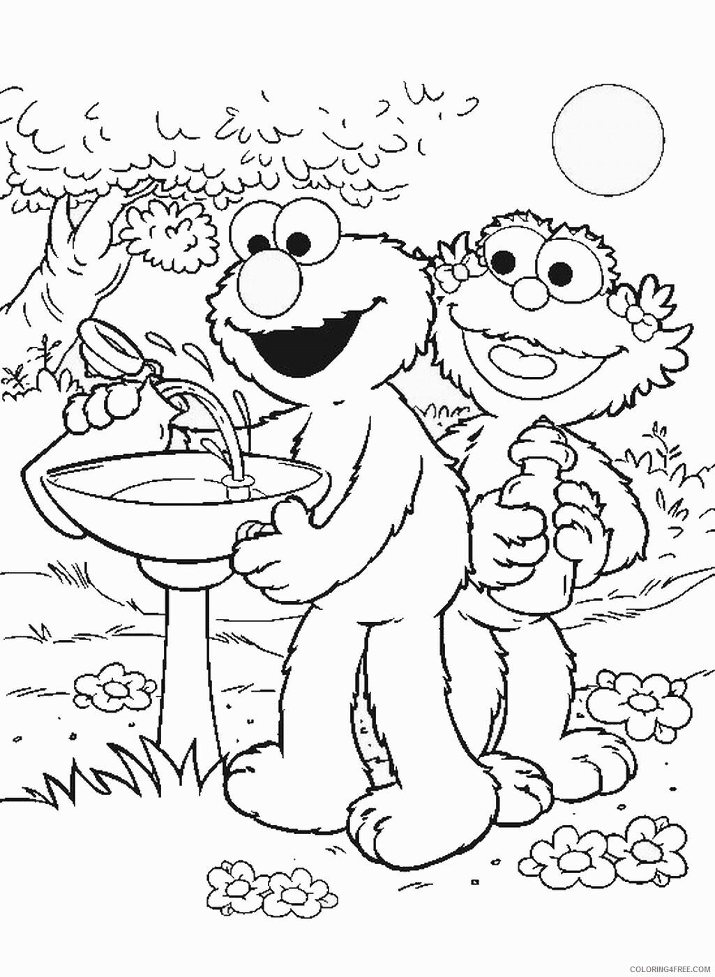 Sesame Street Coloring Pages TV Film sesame_12 Printable 2020 07369 Coloring4free