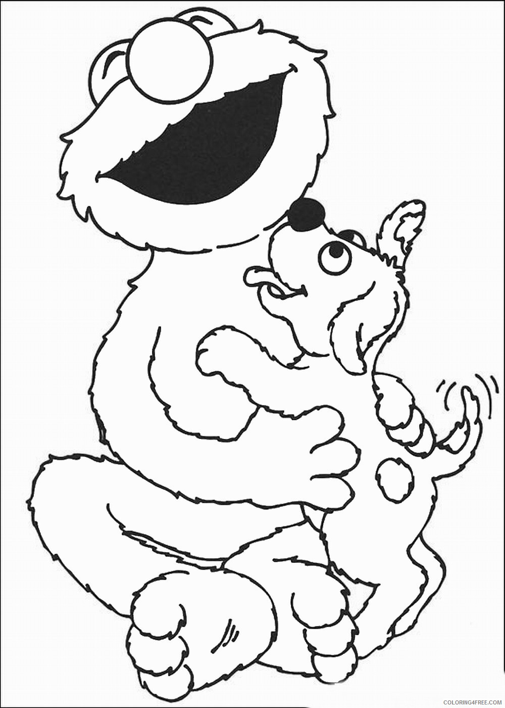 Sesame Street Coloring Pages TV Film sesame_16 Printable 2020 07371 Coloring4free