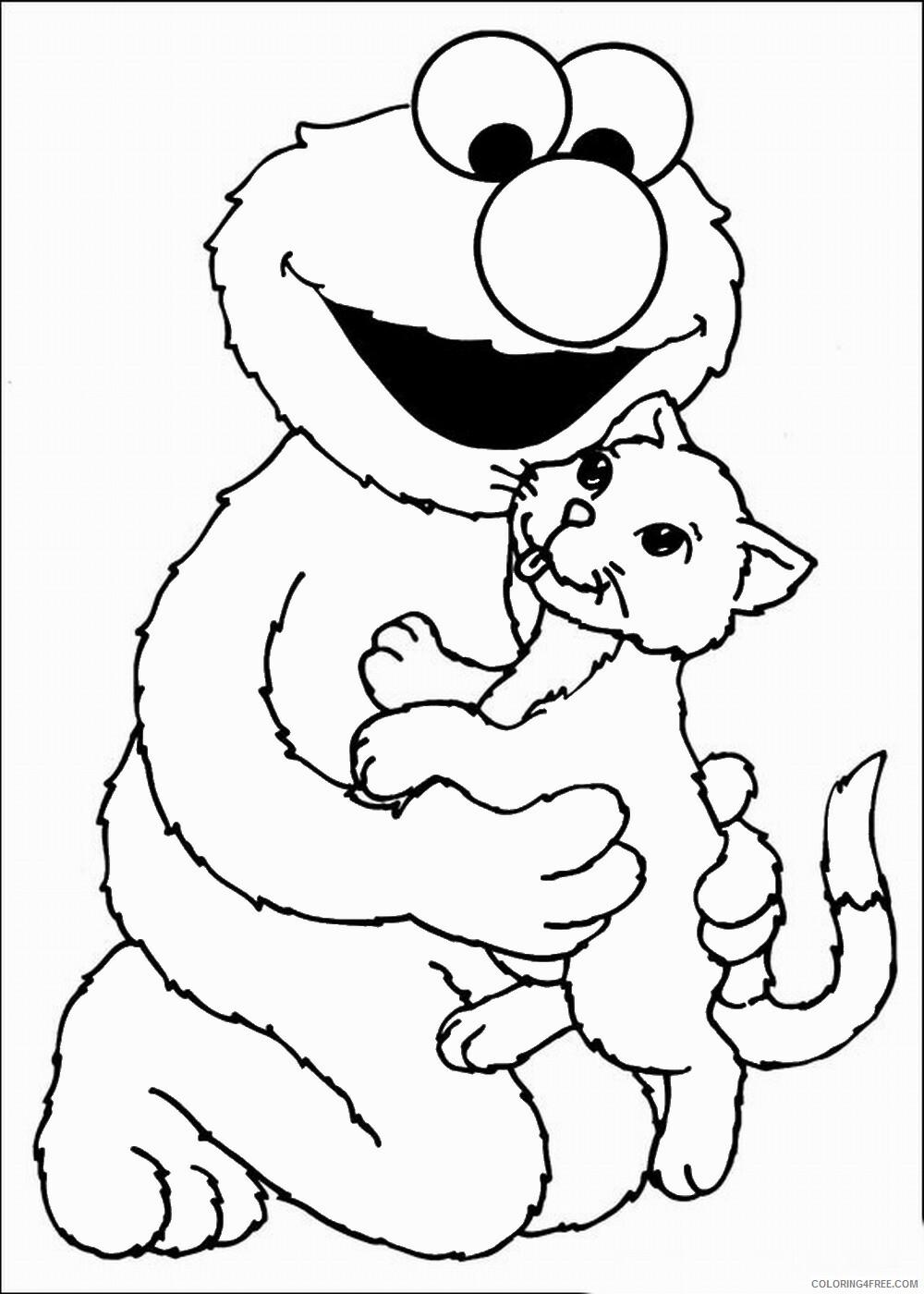 Sesame Street Coloring Pages TV Film sesame_18 Printable 2020 07373 Coloring4free