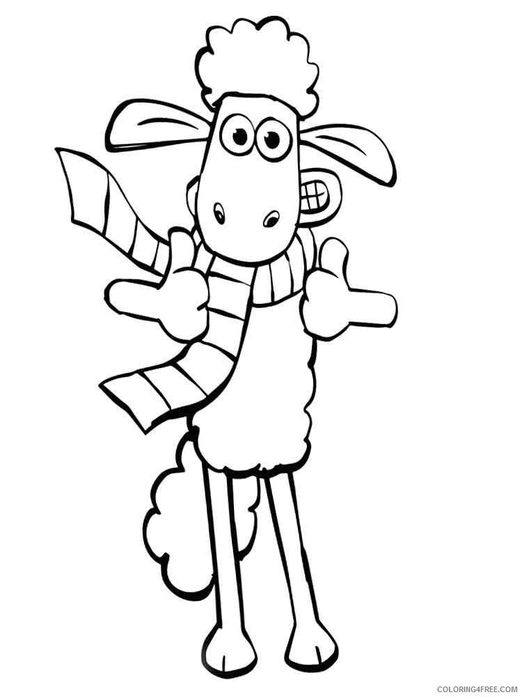 Shaun the Sheep Coloring Pages TV Film shaun the sheep 14 Printable 2020 07490 Coloring4free