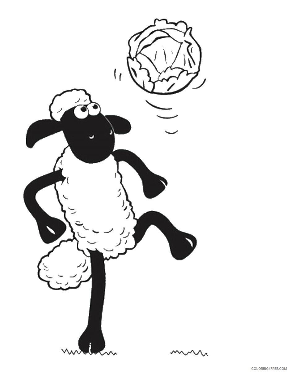 Shaun the Sheep Coloring Pages TV Film shaun the sheep3 Printable 2020 07479 Coloring4free