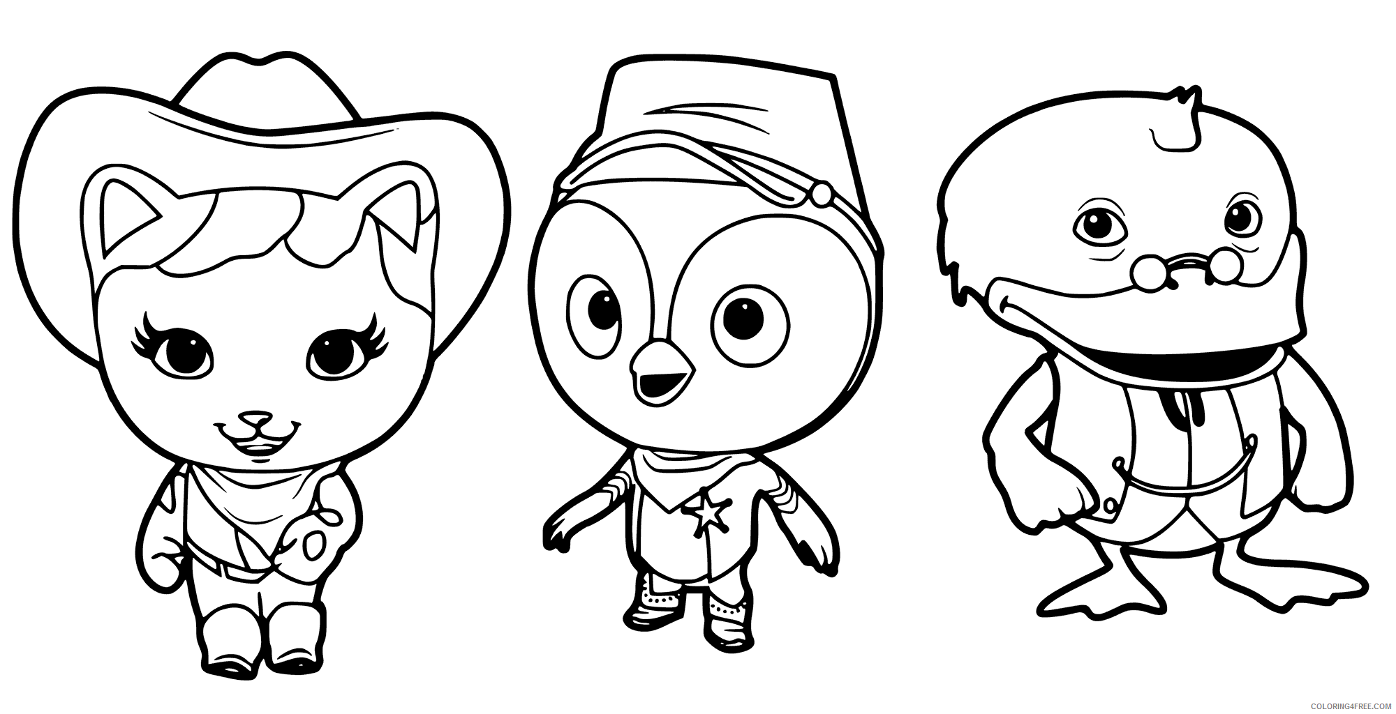 Sheriff Callie Coloring Pages TV Film Characters Printable 2020 07515 Coloring4free