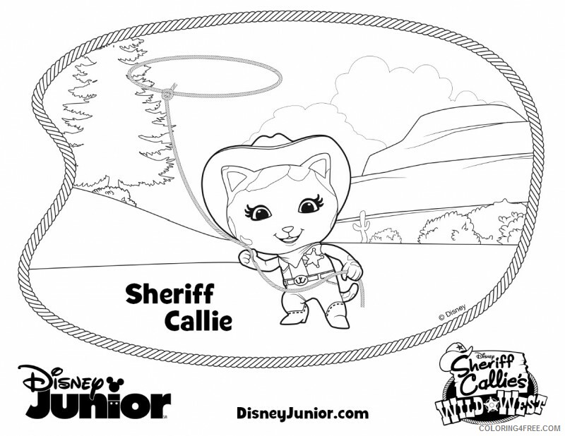 Sheriff Callie Coloring Pages TV Film Printable 2020 07516 Coloring4free