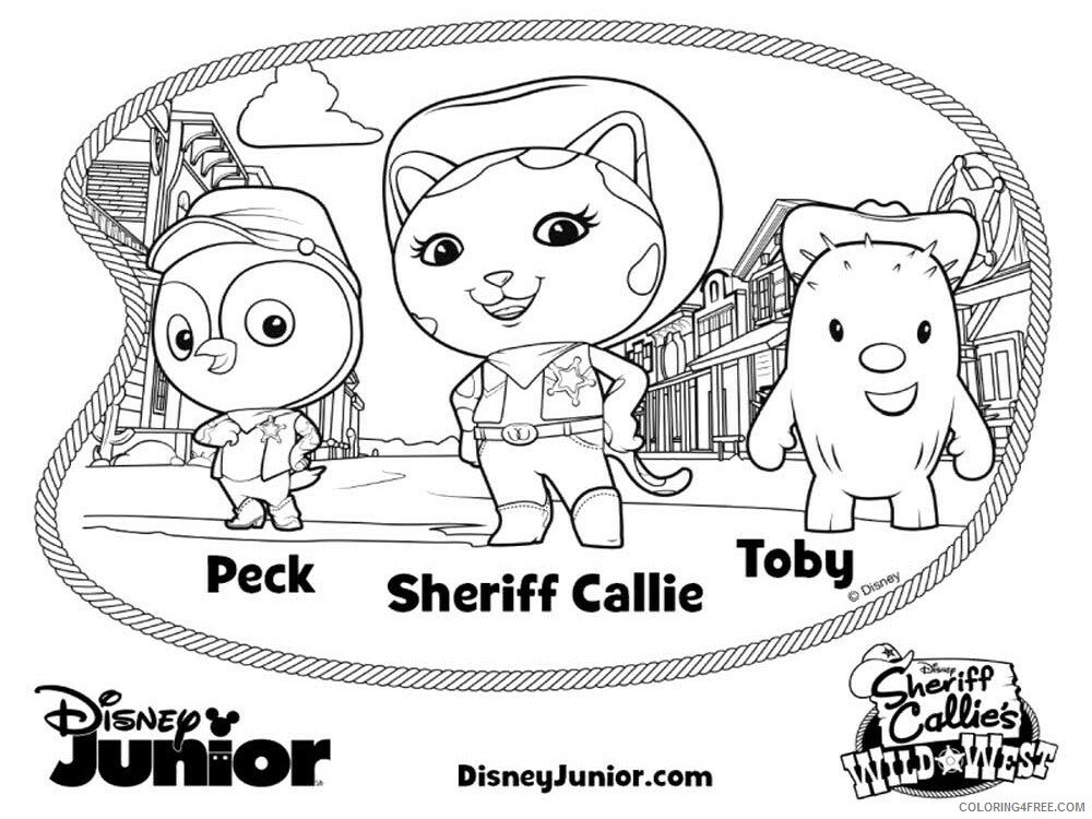 Sheriff Callie Coloring Pages TV Film Wild West Printable 2020 07526 Coloring4free