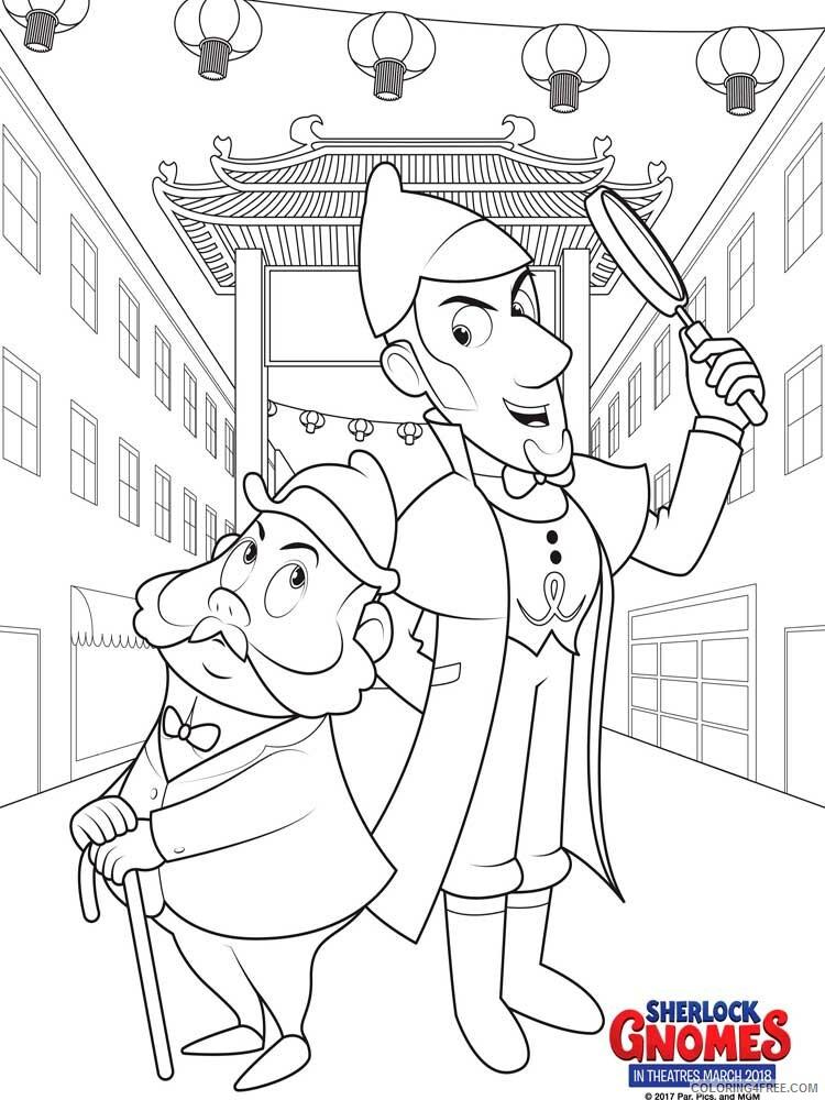 Sherlock Gnomes Coloring Pages TV Film Sherlock Gnomes 3 Printable 2020 07534 Coloring4free