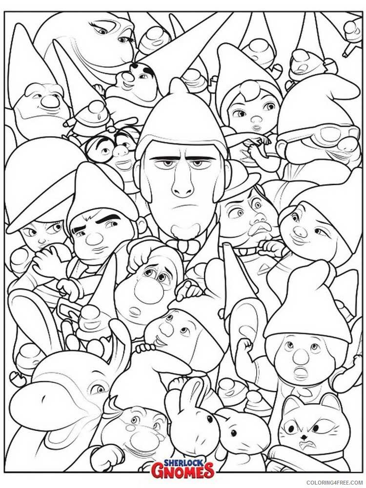 Sherlock Gnomes Coloring Pages TV Film Sherlock Gnomes 9 Printable 2020 07540 Coloring4free
