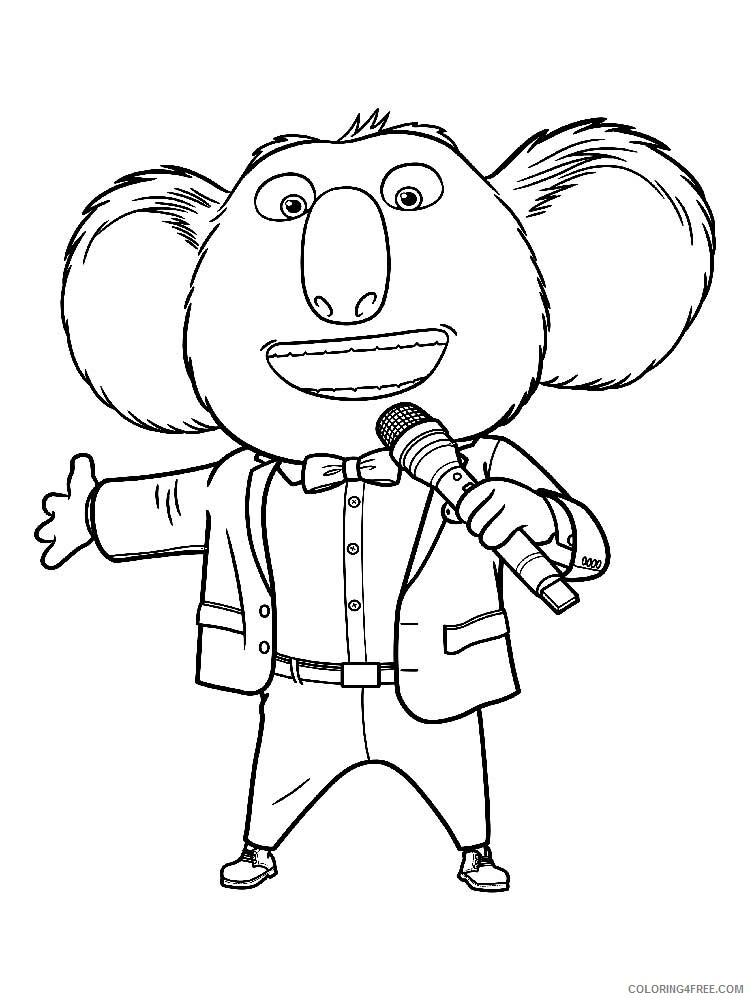 Sing Coloring Pages TV Film Sing 9 Printable 2020 07637 Coloring4free