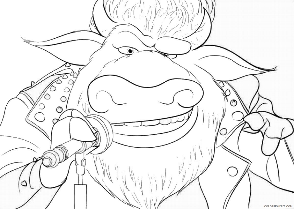 Sing Coloring Pages TV Film sing15 Printable 2020 07599 Coloring4free