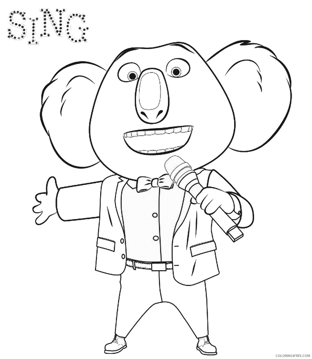 Sing Coloring Pages TV Film sing2 Printable 2020 07604 Coloring4free
