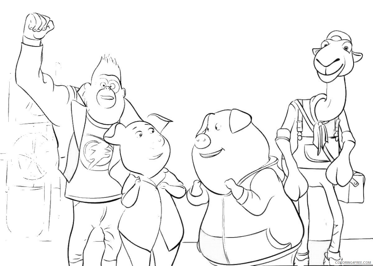Sing Coloring Pages TV Film sing21 Printable 2020 07606 Coloring4free