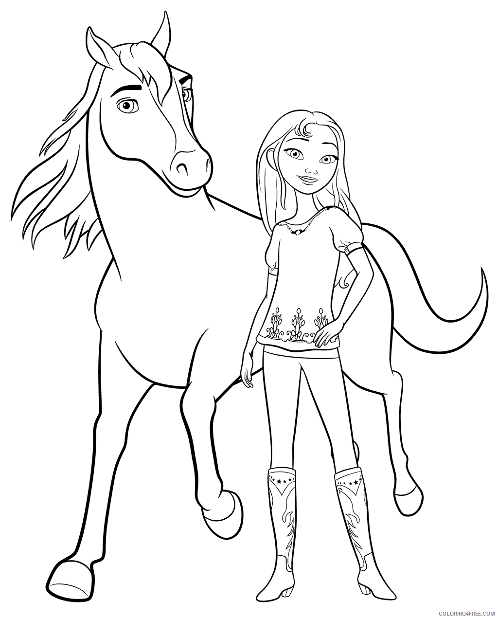 Spirit Riding Free Coloring Pages TV Film Lucky Printable 2020 07676 Coloring4free