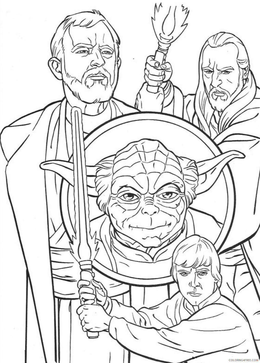 Star Wars Coloring Pages TV Film Characters Luke Skywalker Printable 2020 07954 Coloring4free