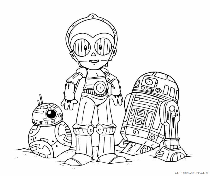 Star Wars Coloring Pages TV Film Chibi Droids Star Wars Printable 2020  07764 Coloring4free - Coloring4Free.com