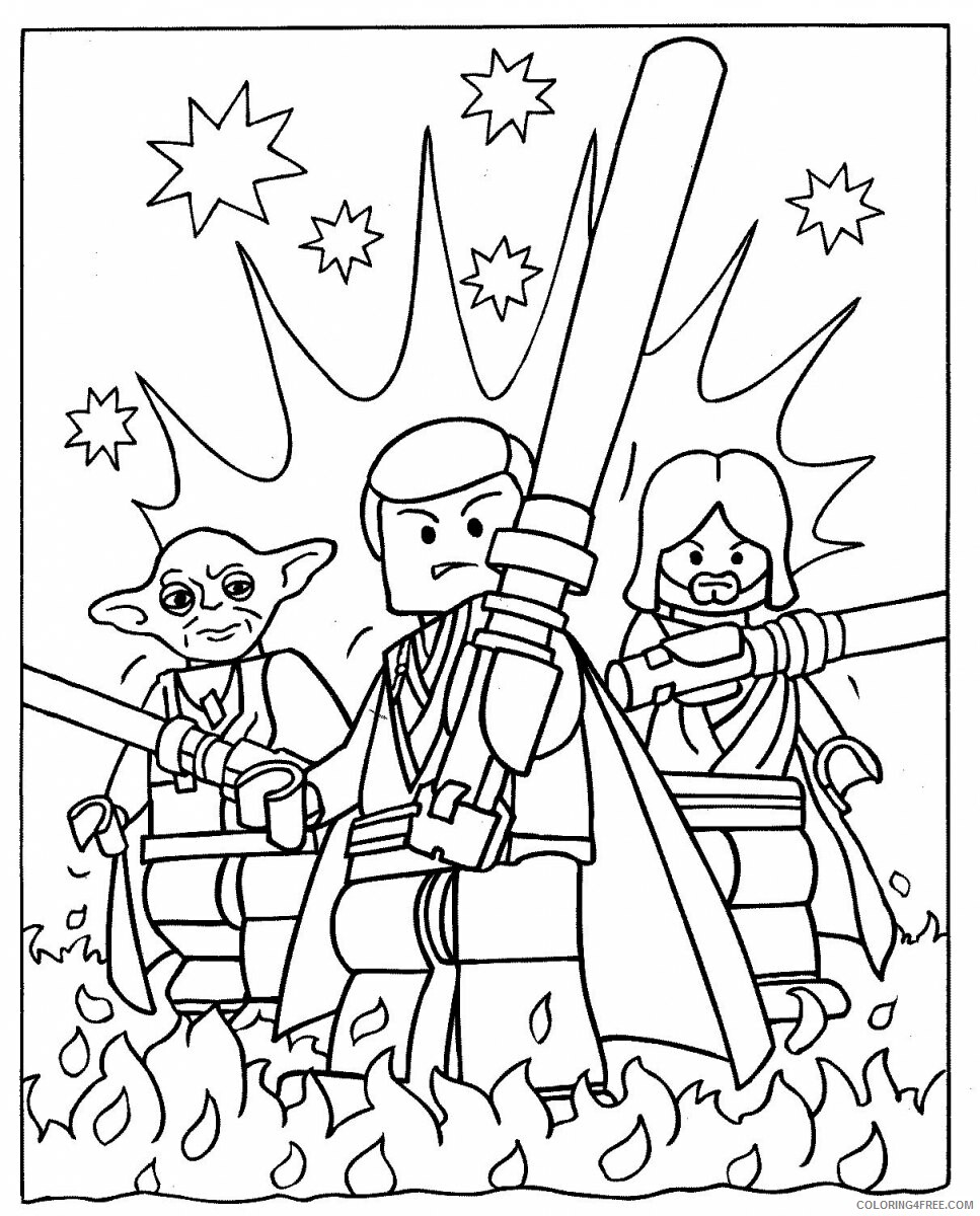 Star Wars Coloring Pages TV Film Free Lego Star Wars Printable 2020 07784 Coloring4free