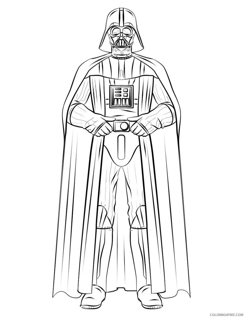 Star Wars Coloring Pages TV Film Free Star Wars Darth Vader Printable 2020 07792 Coloring4free