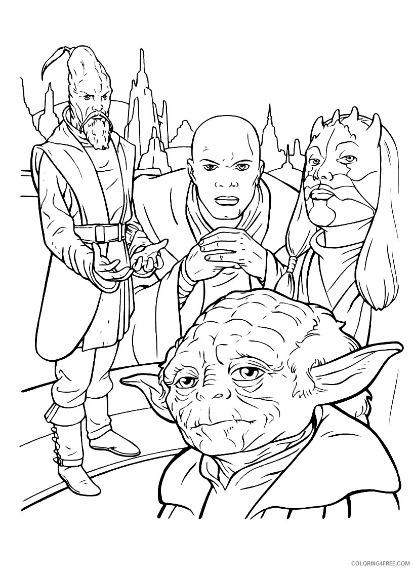 Star Wars Coloring Pages TV Film Free Star Wars Printable 2020 07791 Coloring4free