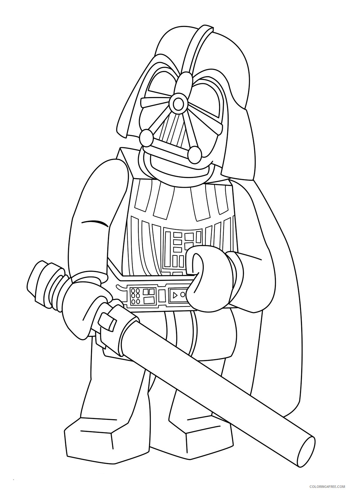 Star Wars Coloring Pages TV Film Lego Star Wars Vader Printable 2020 07808 Coloring4free