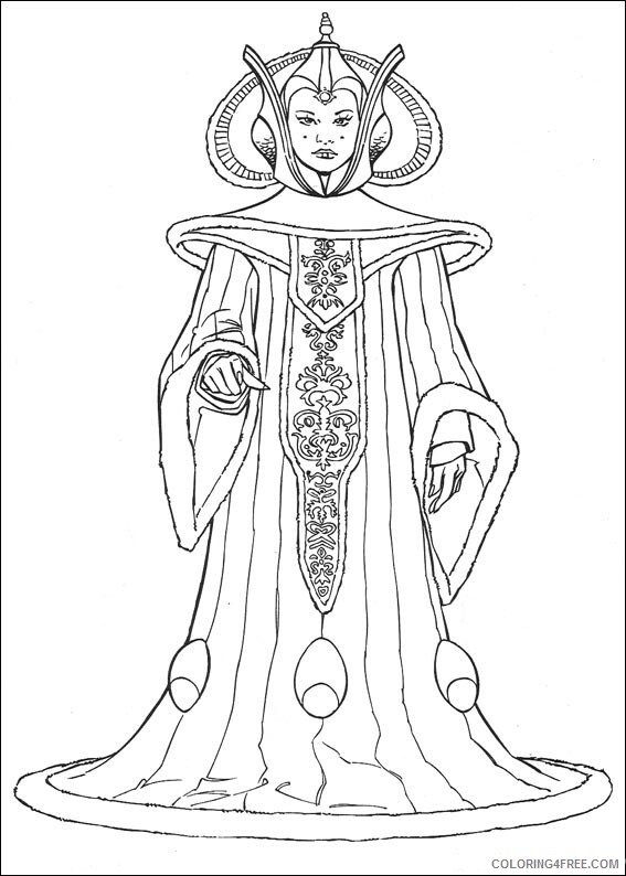 Star Wars Coloring Pages TV Film Queen Amidala Star Wars Printable 2020 07823 Coloring4free