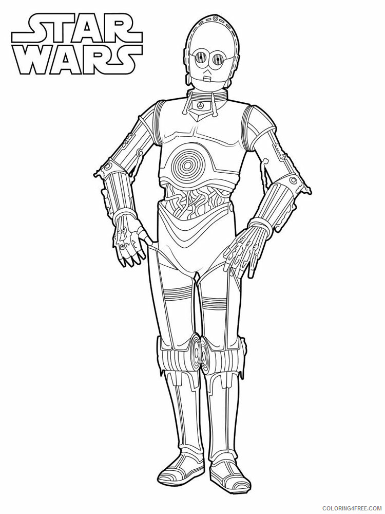 Star Wars Coloring Pages TV Film Star Wars 4 Printable 2020 08000 Coloring4free