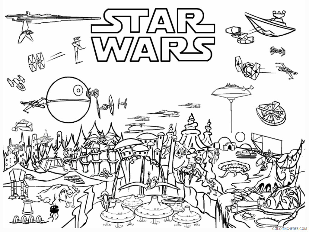 Star Wars Coloring Pages TV Film Star Wars Scene Printable 2020 08033 Coloring4free
