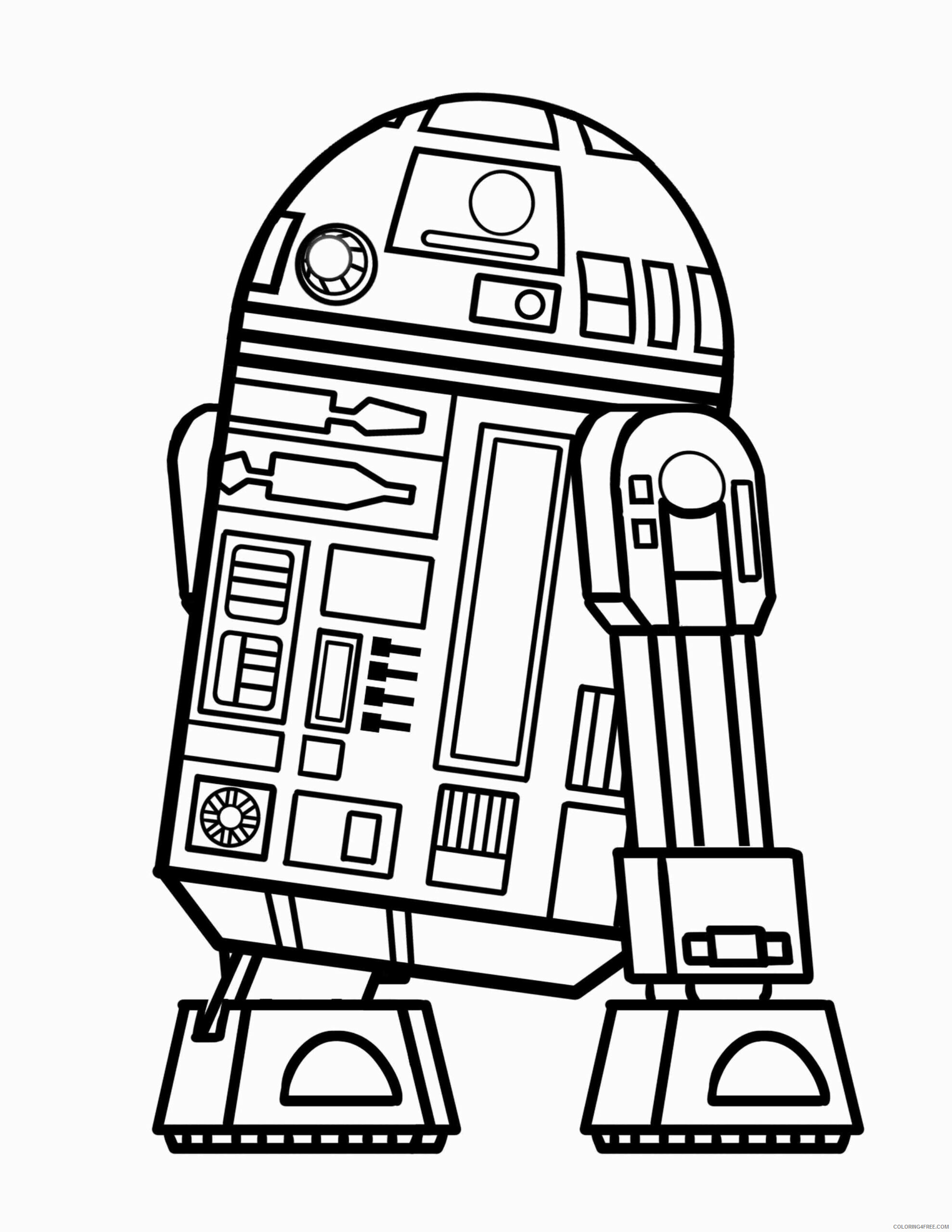 Star Wars R2D2 Coloring Pages TV Film Easy R2D2 Printable 2020 08059 Coloring4free