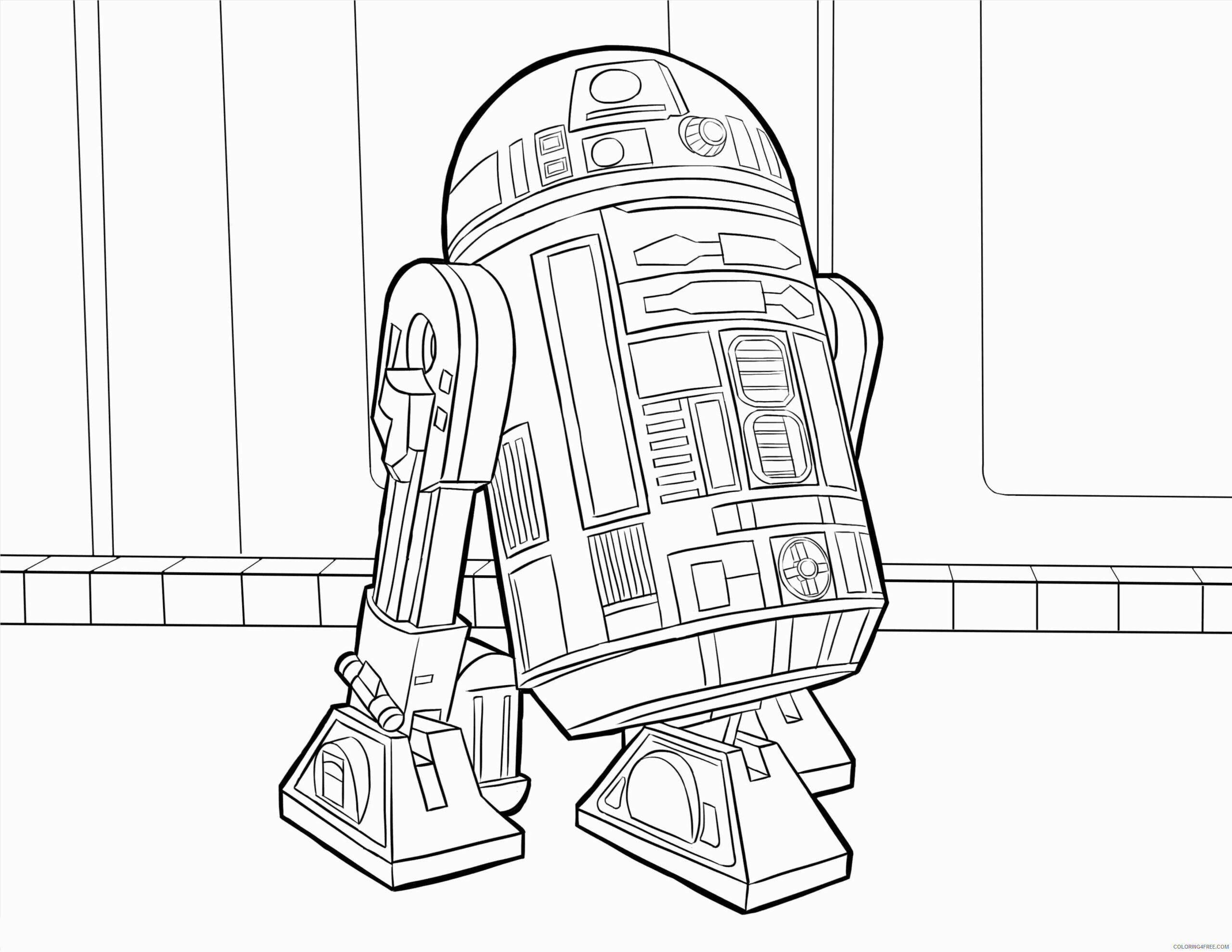 Star Wars R2D2 Coloring Pages TV Film Free R2D2 Printable 2020 08060 Coloring4free