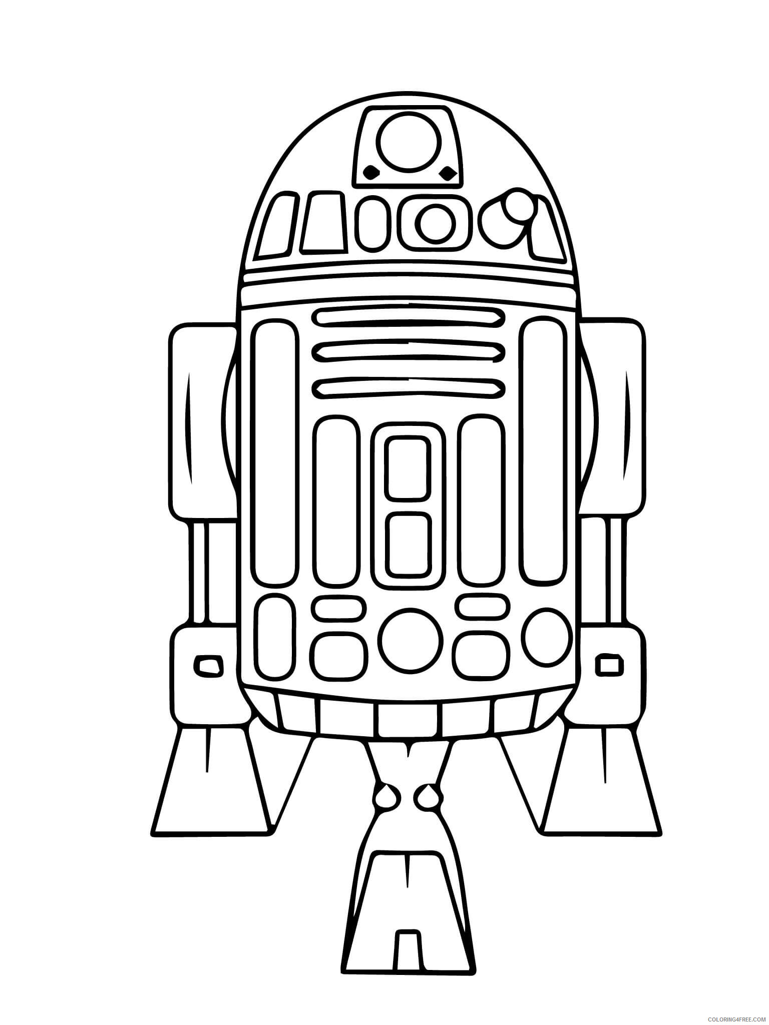 Star Wars R2D2 Coloring Pages TV Film R2D2 Printable 2020 08062 Coloring4free