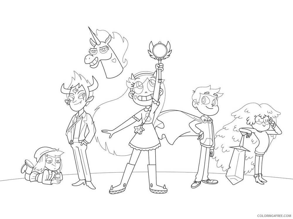 Star vs the Forces of Evil Coloring Pages TV Film Printable 2020 07733 Coloring4free