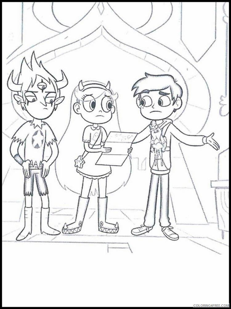 Star vs the Forces of Evil Coloring Pages TV Film Printable 2020 07737 Coloring4free