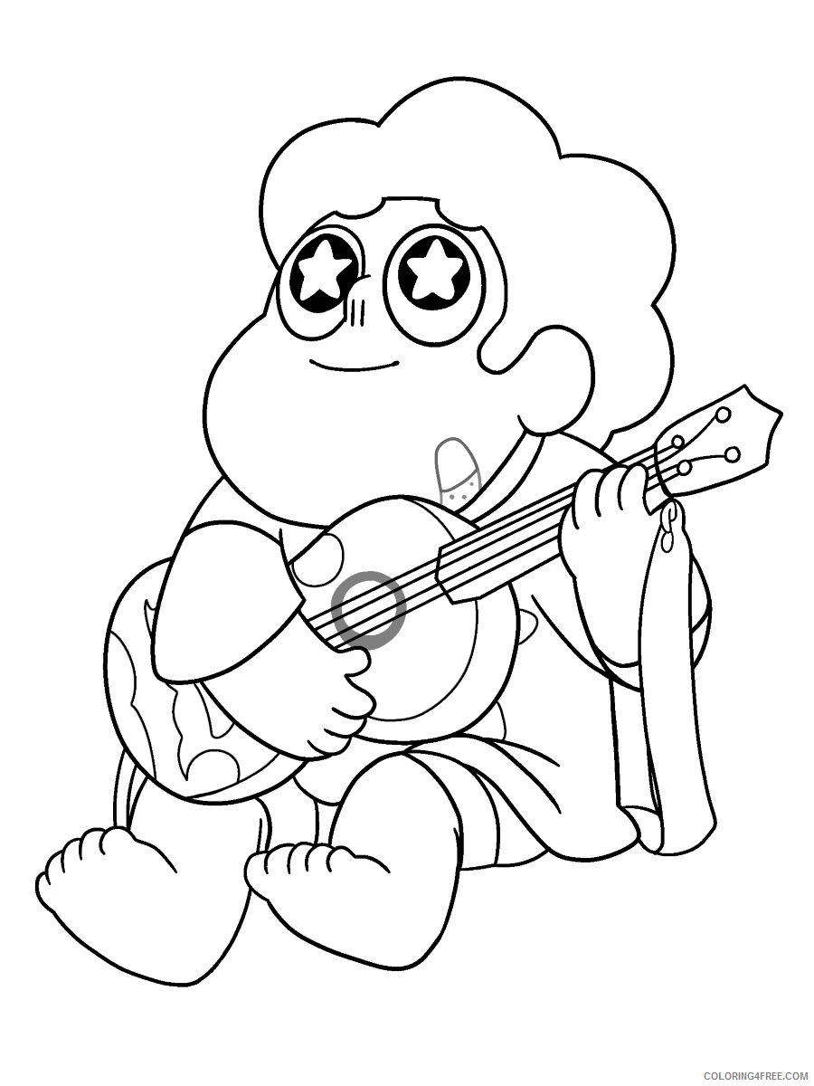 Steven Universe Coloring Pages TV Film guitar music Printable 2020 08071 Coloring4free