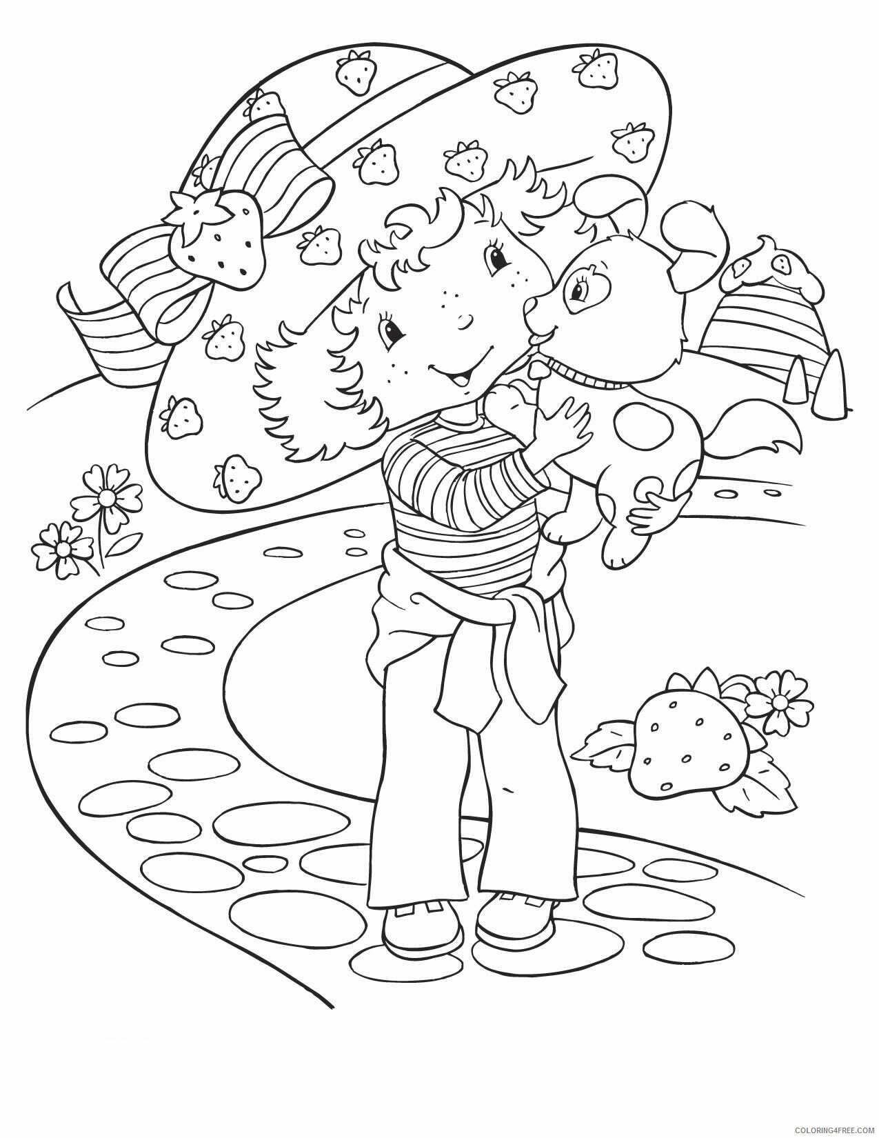 Strawberry Shortcake Coloring Pages TV Film Printable 2020 08098 Coloring4free