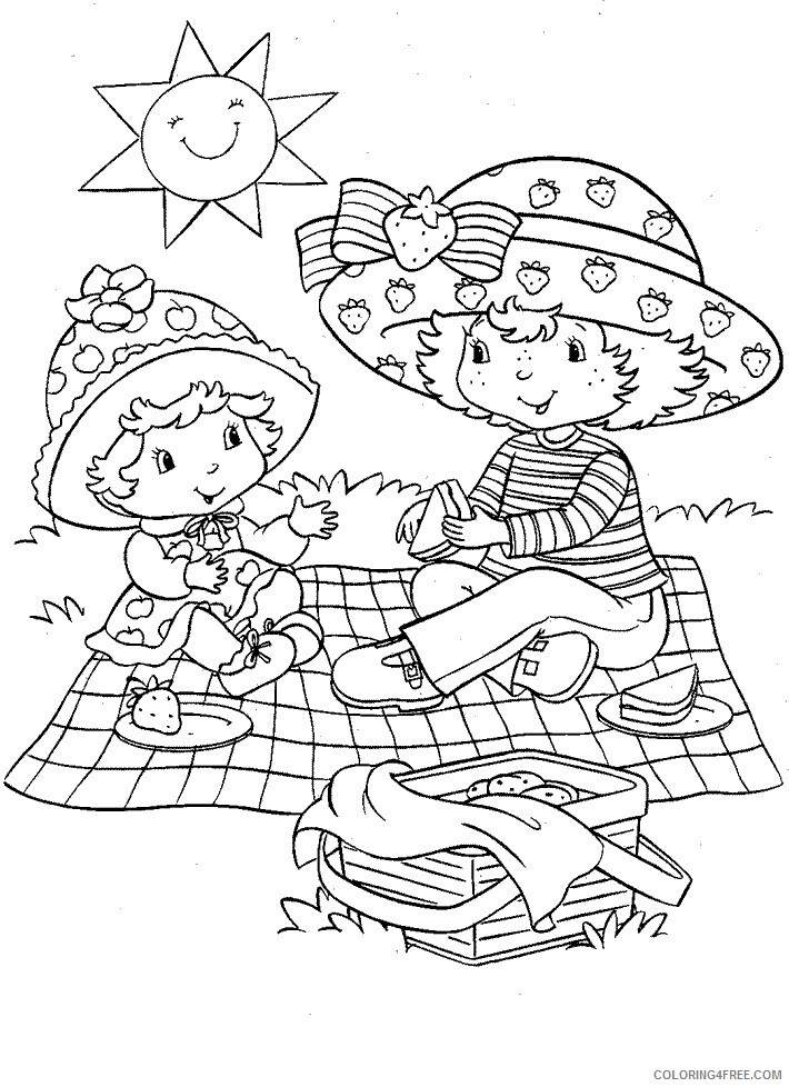 Strawberry Shortcake Coloring Pages TV Film Printable 2020 08099 Coloring4free