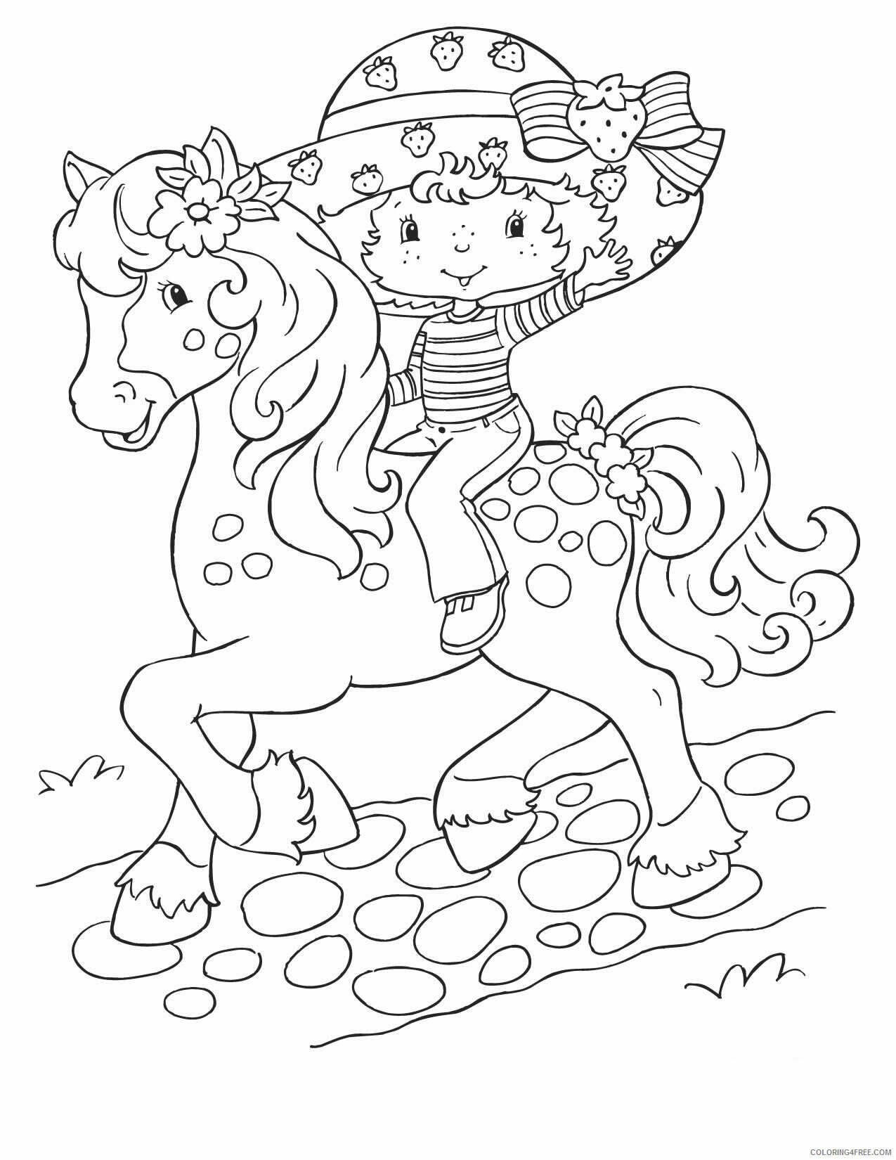 Strawberry Shortcake Coloring Pages TV Film Printable 2020 08104 Coloring4free