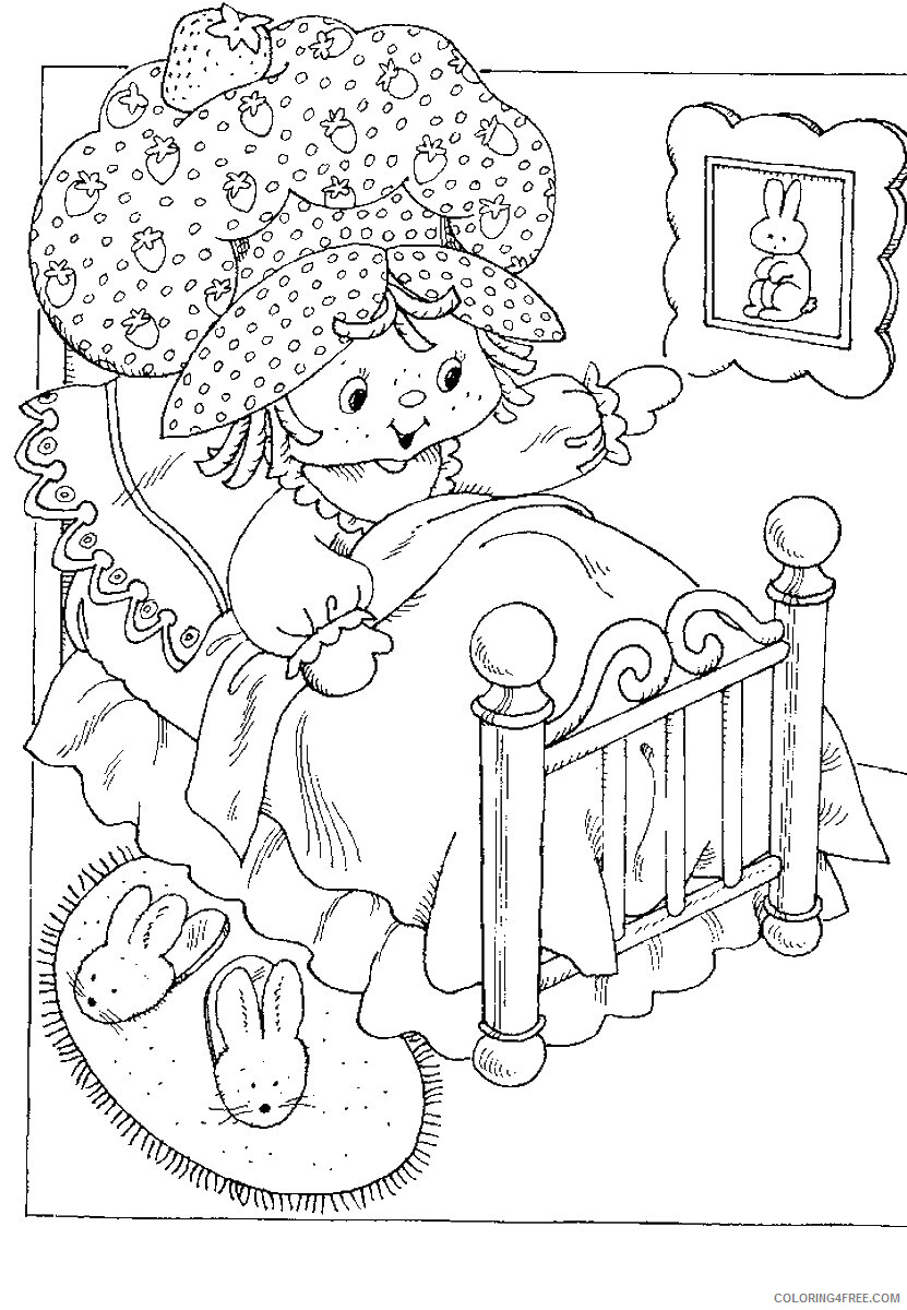 Strawberry Shortcake Coloring Pages TV Film Printable 2020 08107 Coloring4free