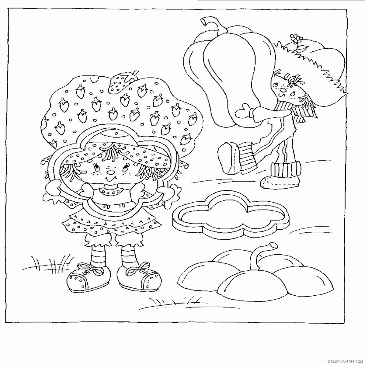Strawberry Shortcake Coloring Pages TV Film Printable 2020 08109 Coloring4free