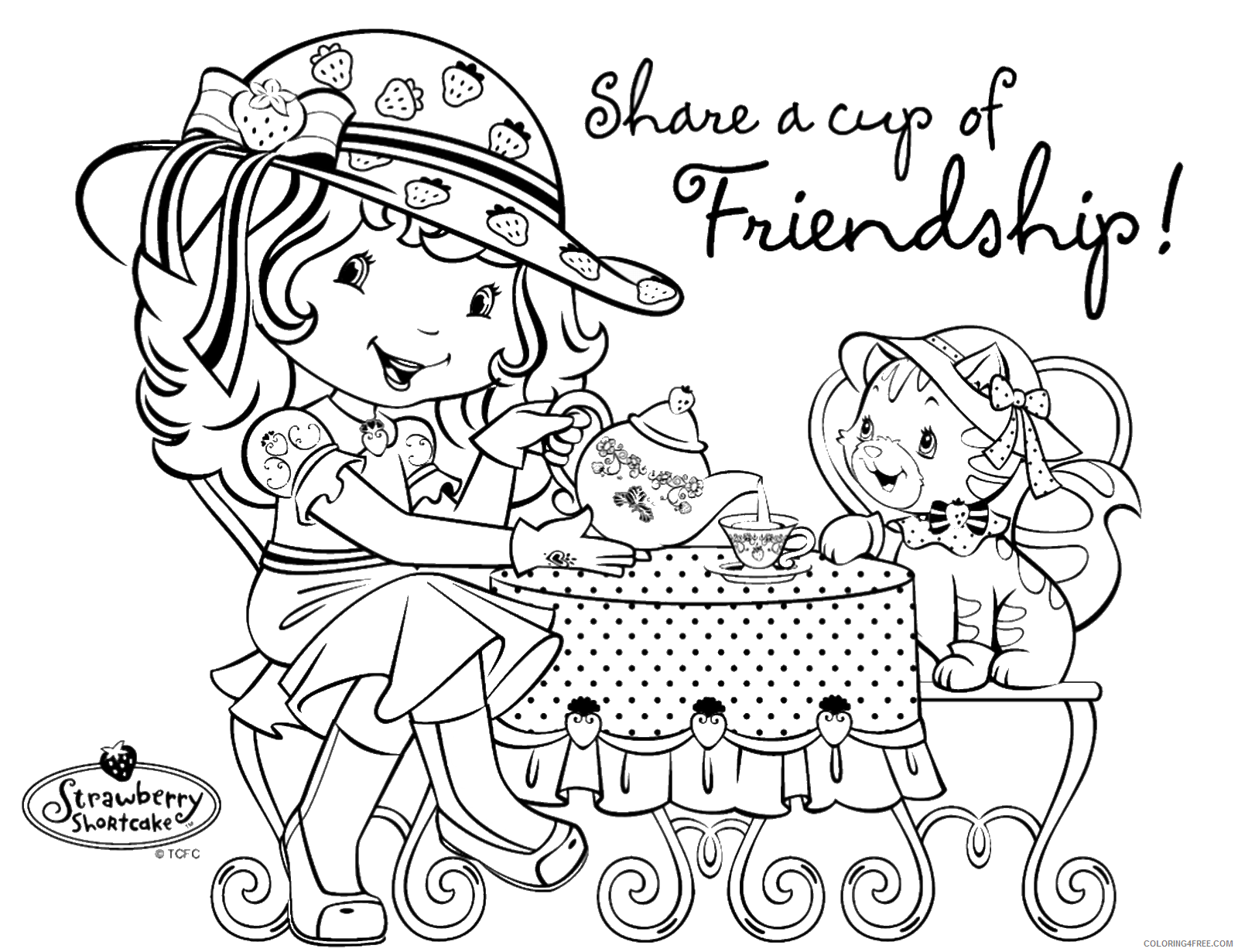 Strawberry Shortcake Coloring Pages TV Film Printable 2020 08143 Coloring4free