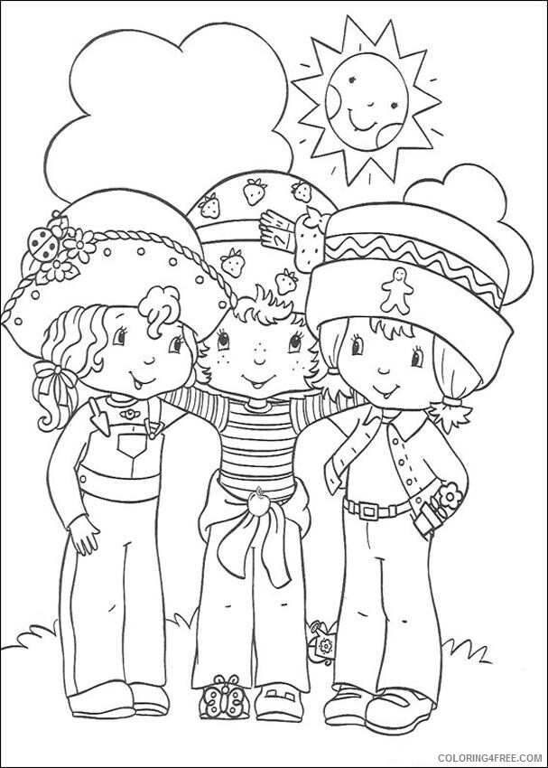 Strawberry Shortcake Coloring Pages TV Film Printable 2020 08145 Coloring4free