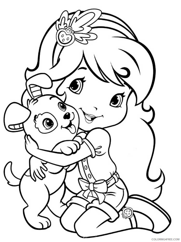 Strawberry Shortcake Coloring Pages TV Film Printable 2020 08197 Coloring4free
