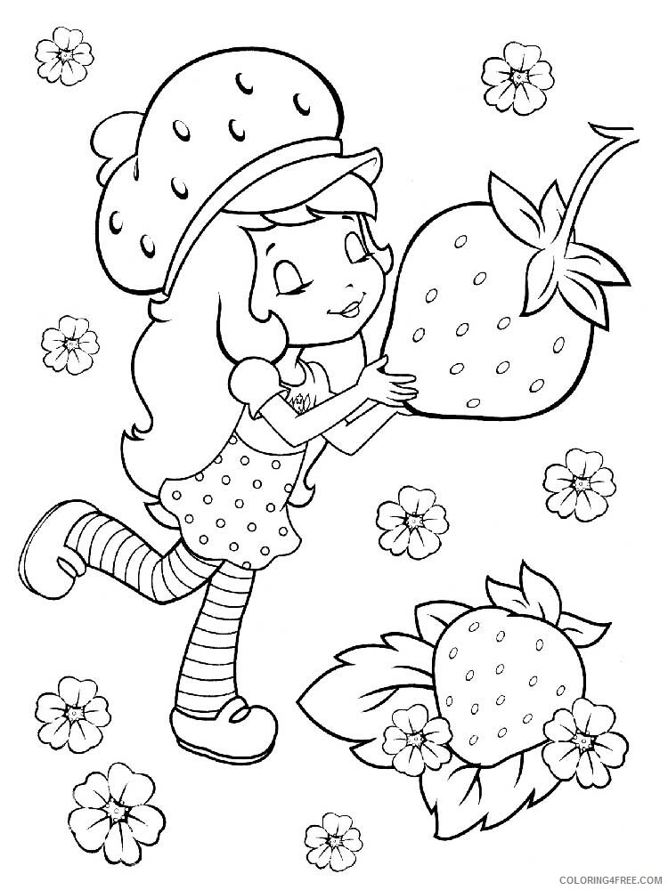 Strawberry Shortcake Coloring Pages TV Film Printable 2020 08200 Coloring4free