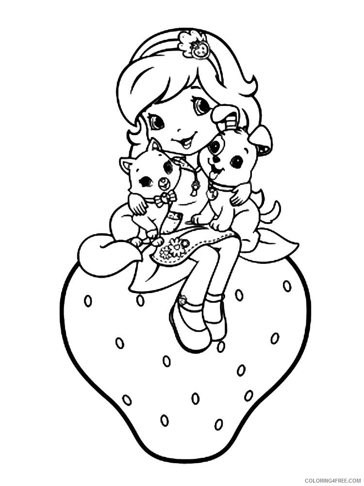Strawberry Shortcake Coloring Pages TV Film Printable 2020 08203 Coloring4free