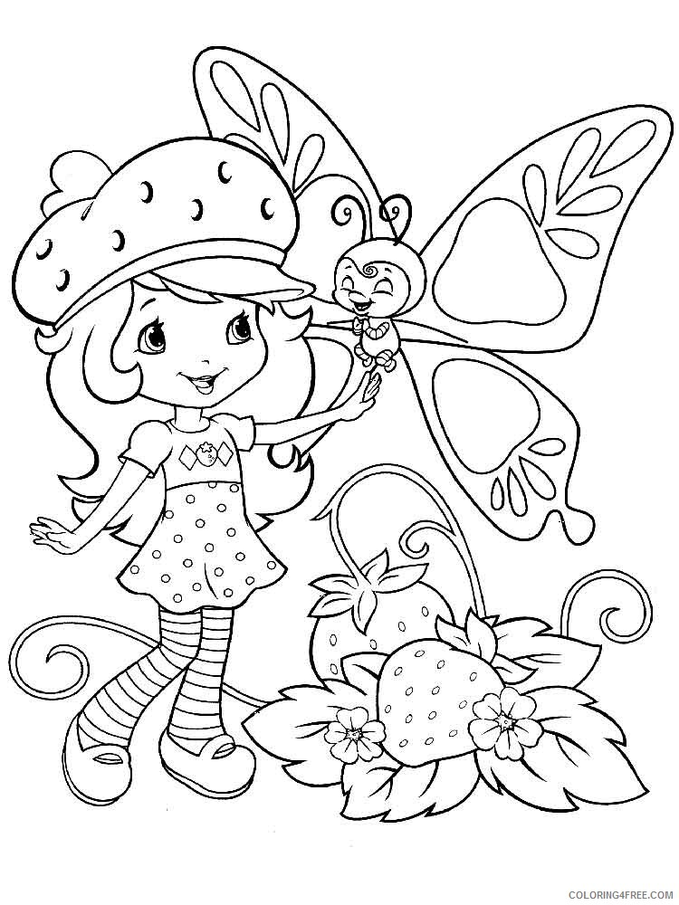 Strawberry Shortcake Coloring Pages Tv Film Berrykins 5 Printable 2020 08171 Coloring4free Coloring4free Com
