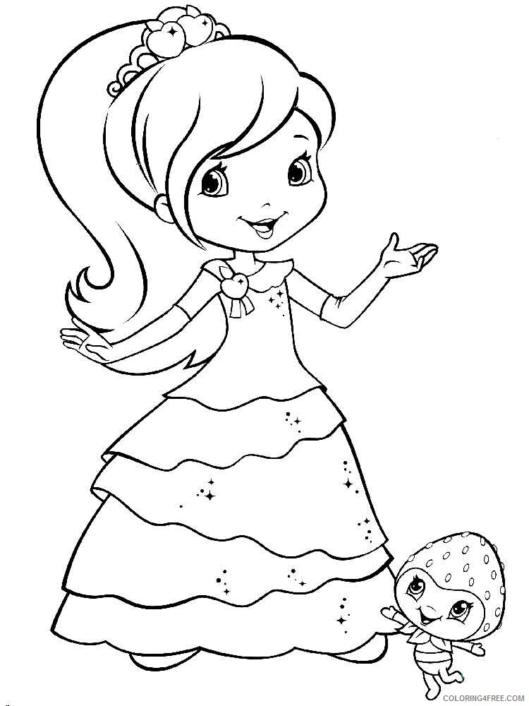 Strawberry Shortcake Coloring Pages TV Film berrykins 9 Printable 2020 08173 Coloring4free