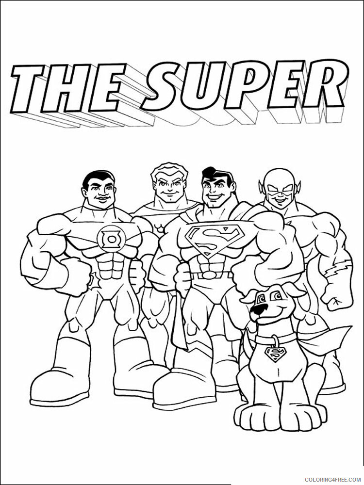 Super Friends Coloring Pages TV Film Superfriends 6 Printable 2020 08290 Coloring4free