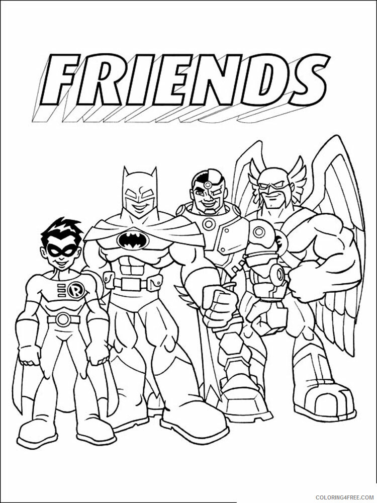 Super Friends Coloring Pages TV Film Superfriends 7 Printable 2020 08292 Coloring4free