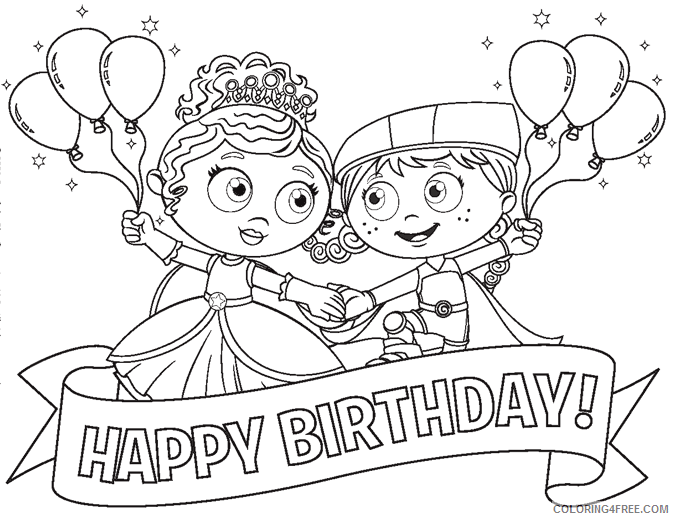 Super Why Coloring Pages TV Film Super Why Happy Birthday Printable 2020 08310 Coloring4free