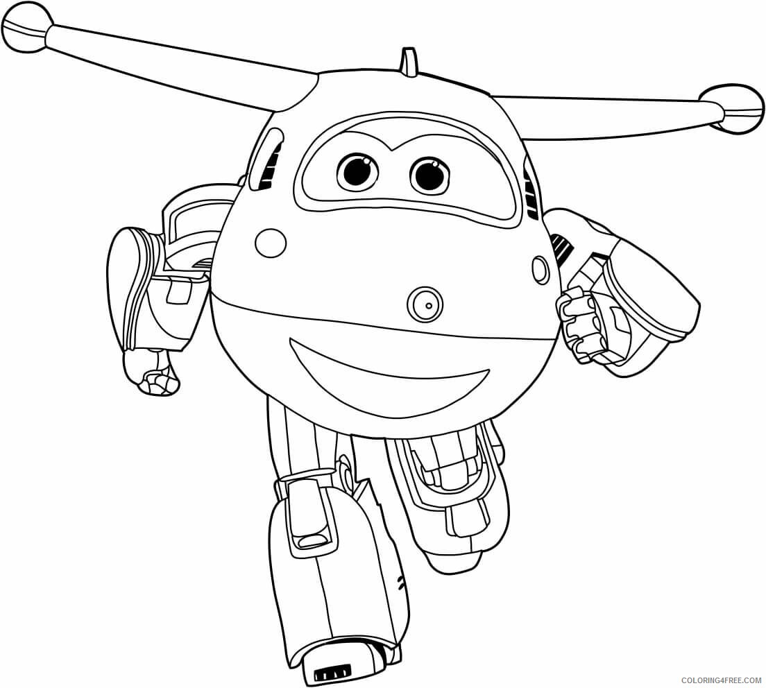 Super Wings Coloring Pages TV Film Printable Super Wings Printable 2020 08347 Coloring4free